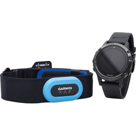 Garmin fenix 5 Saphir GPS Watch Performer Bundle / Premium HRM-Tri Chest Strap + QuickFit, black